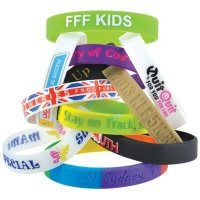Coloured and printed wristbands are the simplest way of generating interest for a cause!  Custom design your own silicone wristband with printed logo, debossed slogans and swirl wristband colours.  Hand out at school fetes, music festivals, sporting events, to raise awareness for charities and causes.  So many ideas and so many design options.  #wristband #CustomDesign #Charity #SchoolFete #awaremess #MusicFestival #10kRun #MarathonRun #FunDay #promotionalWristband #promotionalproducts
