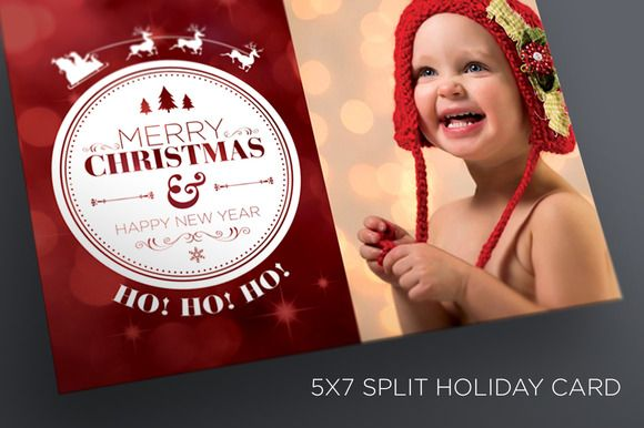 Christmas/New Years Card Template by SOCALARTS on Creative Market