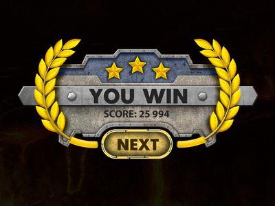 Base Defense 3D iOS Game   Win Screen