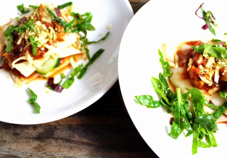 Lasagne med kantareller og squash - på 15 minutter