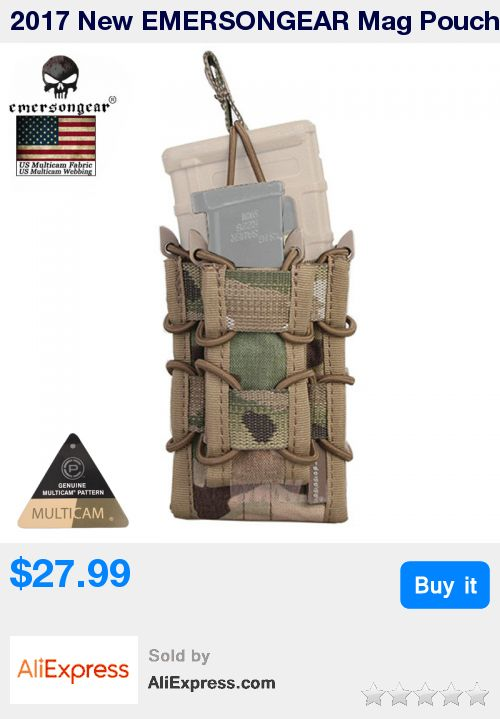 2017 New EMERSONGEAR Mag Pouch molle bag Multicam Double Decker Dump Magazine Pouch For M4 M16 AK Glock 1911 EM6346 * Pub Date: 21:52 Jul 9 2017