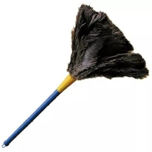 espanador de pó c/ penas de avestruz limpa poeira - 60 cm