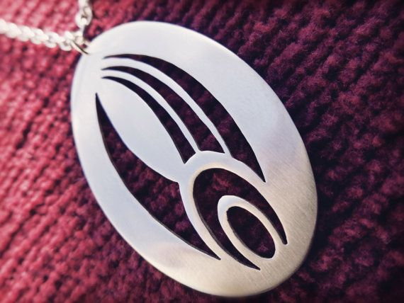 Star Trek Borg Symbol Pendant Necklace by Graphmagics on Etsy, $29.00
