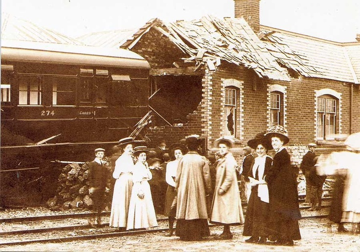 This railway accident at Sheringham in 1909 was printed as a postcard and sent home by the station clerk the next day!