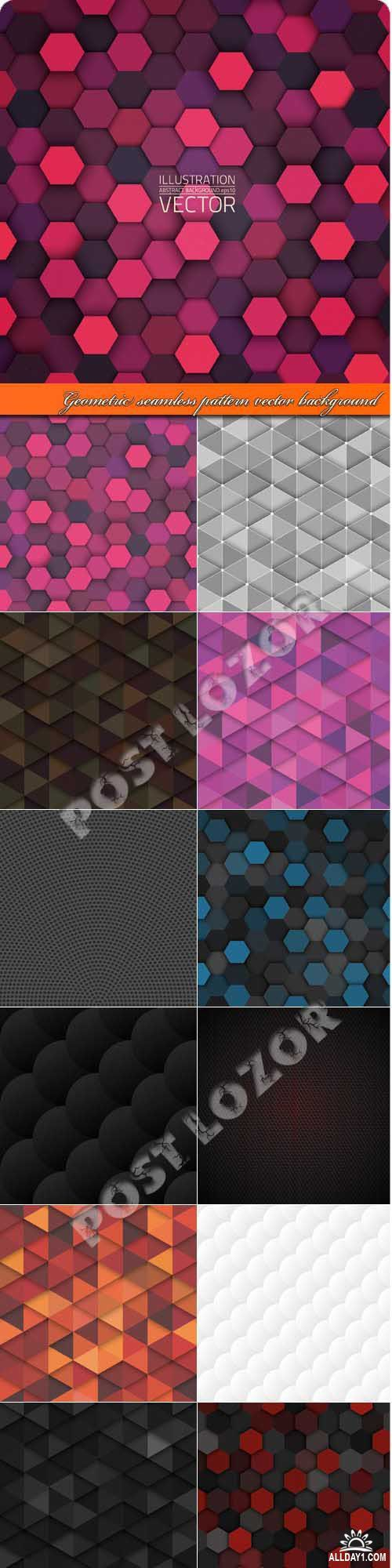 Геометрия узоры бесшовные фоны | Geometric seamless pattern vector background
