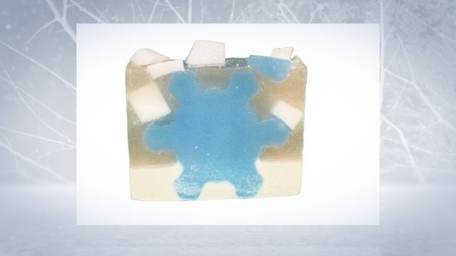 This is a wonderful beautiful unique Christmas or Winter Soap design. Makes a great gift or stocking stuffer.
