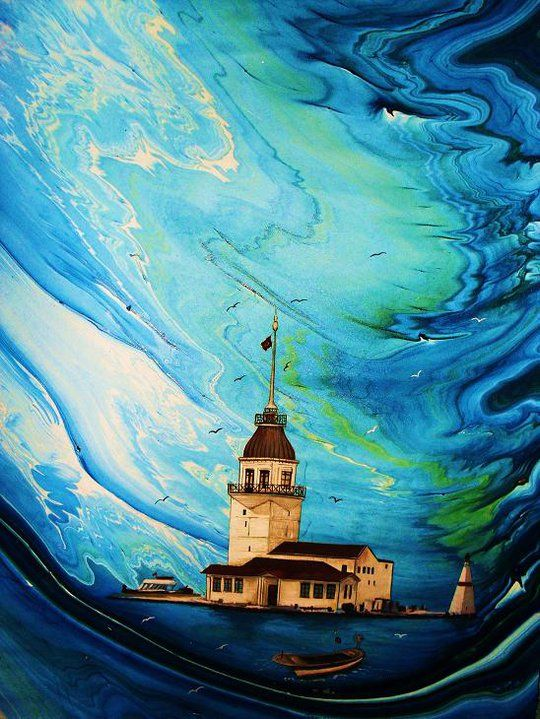 54 Best Images About Ebru Marbling Art On Pinterest