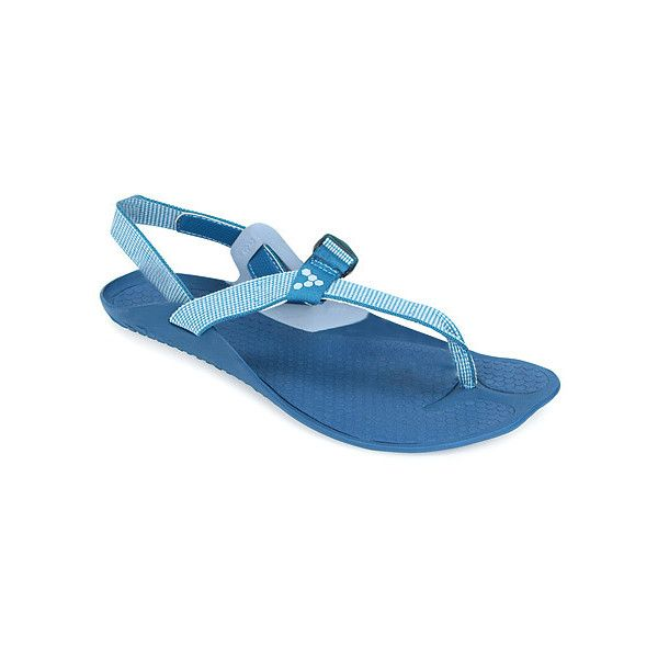 VIVOBAREFOOT Eclipse  Sandals ($55) ❤ liked on Polyvore featuring shoes, sandals, sea blue, women, thin-strap sandals, vivobarefoot shoes, blue shoes, blue sandals and vivobarefoot