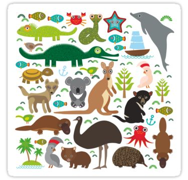 Funny australian animals by EkaterinaP