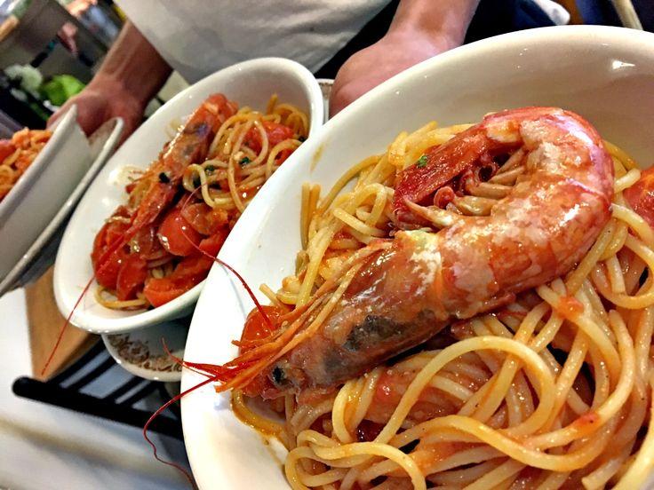 Spaghetti con i gamberi 🍤!