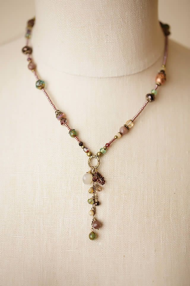 476 best handmade jewelry ideas and techniques images on pinterest mauve mix 17 19 dangle tassle necklace mozeypictures Image collections