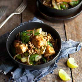 Soba noodle and vegetable stir fry with peanut crusted tofu by blogger ...