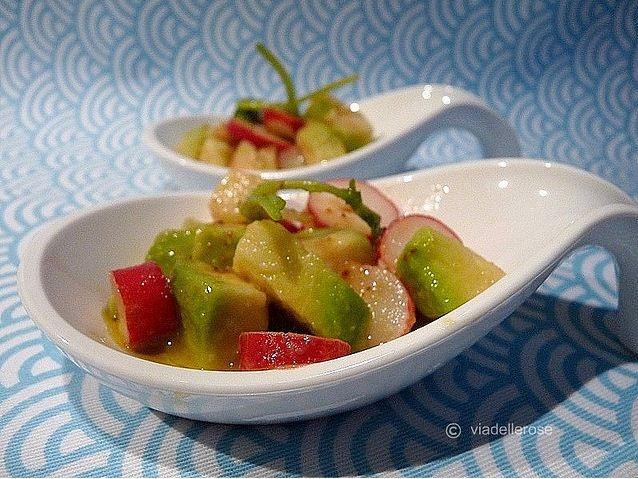 Avocado and ravanelli salad