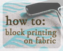 Tutorials & Projects | Home Sweet | How to do block printing with foam and acrylic block