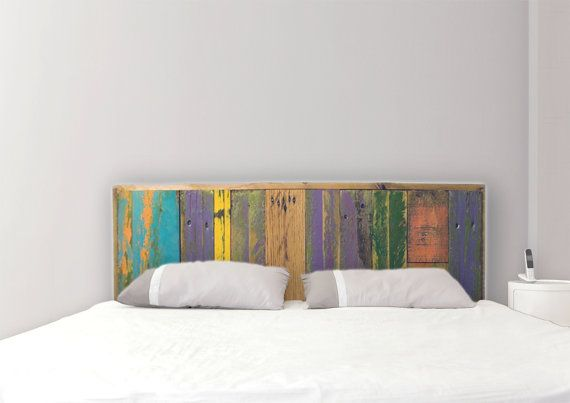 25 best ideas about painted wood headboard on pinterest - Cabecero de tablas ...