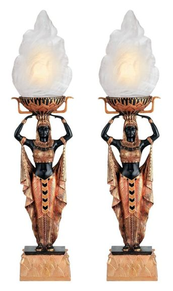 Egyptian Home Decor Torch TableLamp                                                                                                                                                                                 More