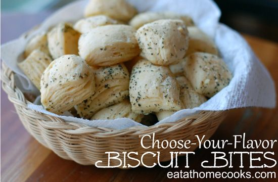 what a great way to change up ordinary canned biscuits in so many ways! can't wait to crack open the one can i have and try one of these! can you say yummy snack or perfect bread option for italian meals!!!??? ahhh. bliss.