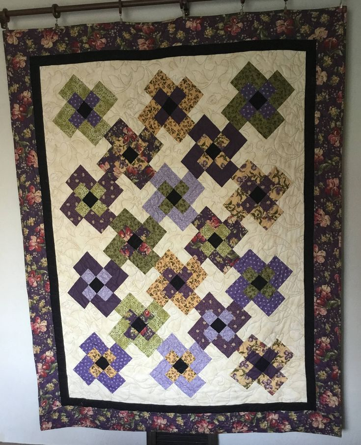 Plum Old Fashion Quilt, Quilts for Sale, Handmade Quilts, Homemade Quilts, Quilts for Gifts, Quilts Floral, Floral Quilts by NonnaQuilts on Etsy