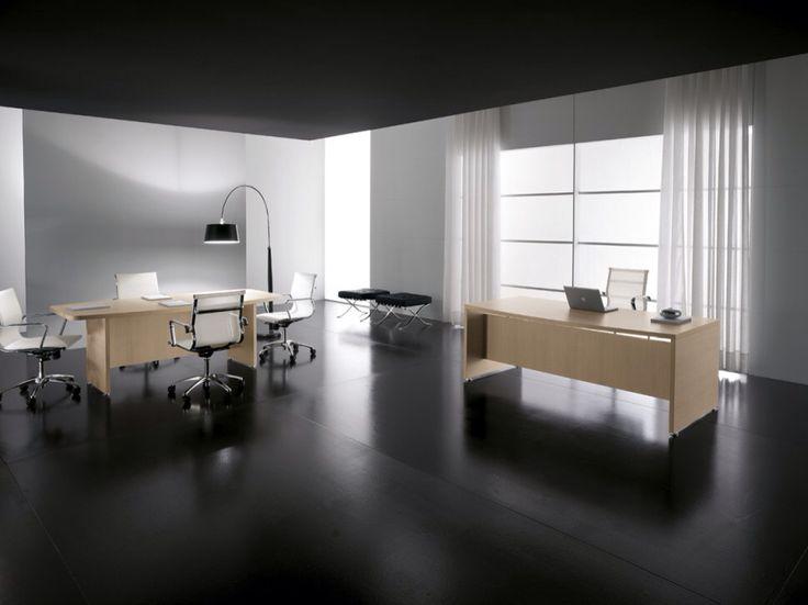 art. GL1039 #tavolo #riunione con basamento in legno e top di forte spessore e forma semi ovale. dim. cm. 200 x 100