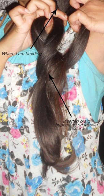 The Inverted Braid Tutorial With Pictures At Each Step
