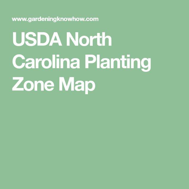 USDA North Carolina Planting Zone Map