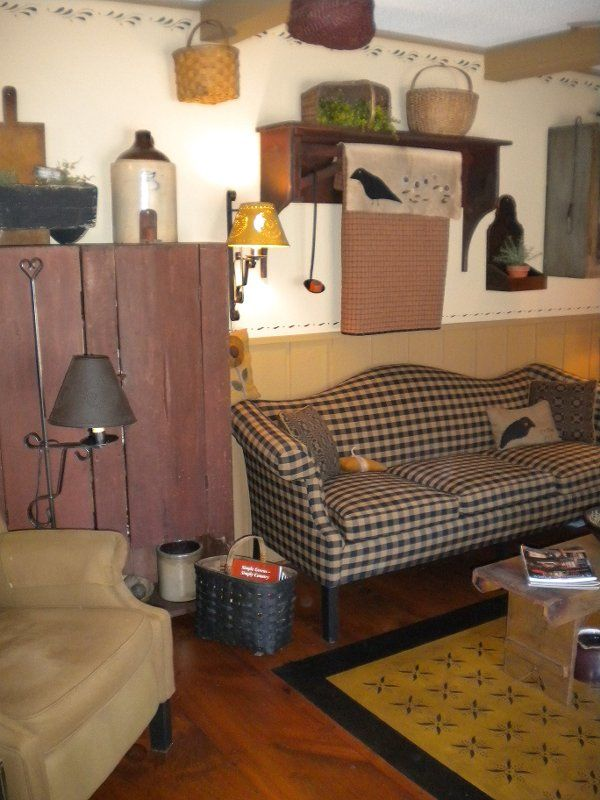 49 best primitive sofas images on pinterest  country