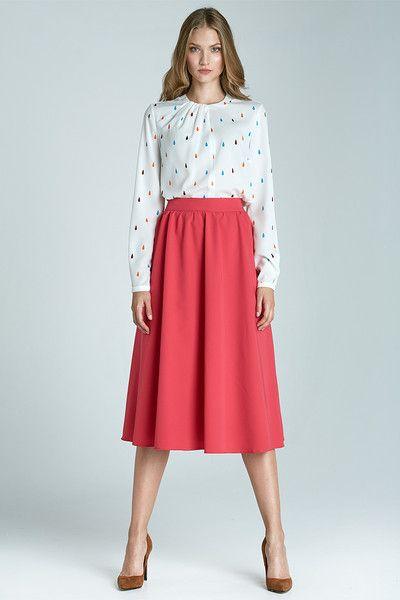 Modna+spódnica+Midi+sp28+-+fuksja+w+NIFE+Fashion+na+DaWanda.com