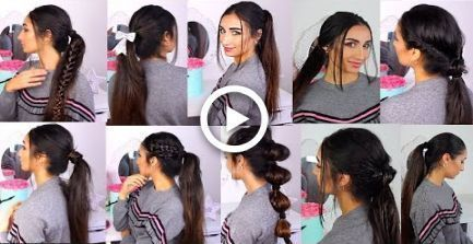 11 Easy & Quick Low PONYTAIL LAZY GIRL HAIRSTYLES,  #amp #Easy #everydayhairstylesponytai...
