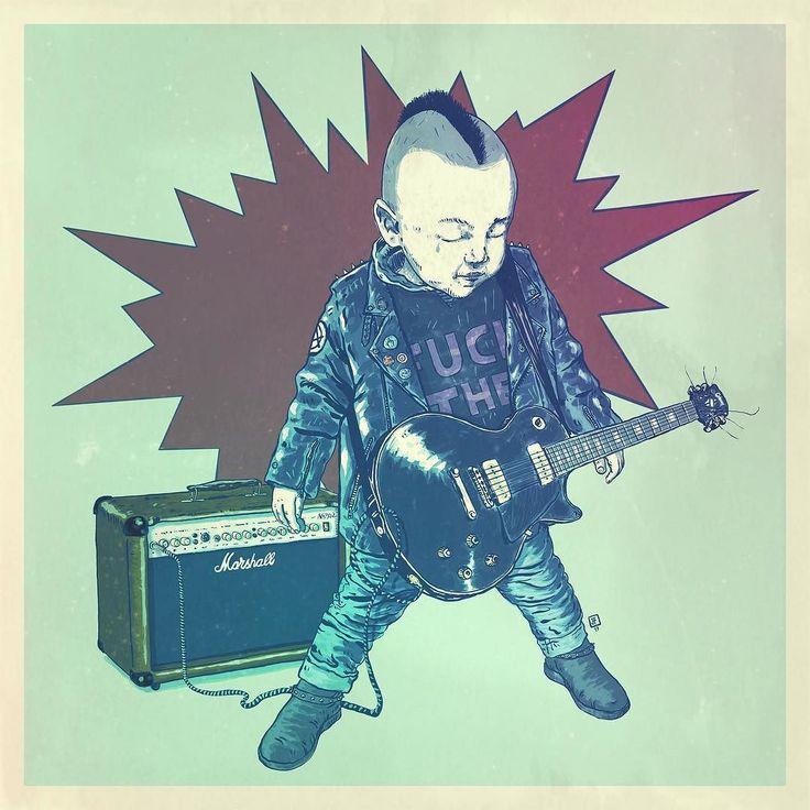 "Magenta ""punk rocker!"" @autodesksketchbook @autodesk_sketchbook @gibsonguitar @marshallamps_uk #ipadart #ipadillustration #illustration #illustrationdaily #sketchbookpro #sketchbookproapp #sketchbookmobile #autodesksketchbook #pixlr #autodeskpixlr #shift_by_pixite #digitalart #babygirl #babyillustration #magenta #marshall #gibson #gibsonguitar #lespaul @lespaulgibson.id #marshallamp #punkrock #punkbaby #punk #rockandroll #rockandrollillustration #mowhawk #babymowhawk #babyplayingguitar…"