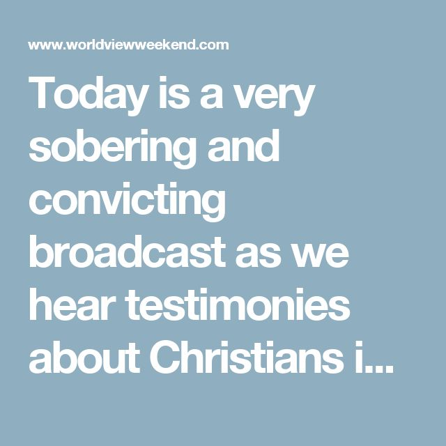 Today is a very sobering and convicting broadcast as we hear testimonies about Christians in Egypt that were beaten, kidnapped, and tortured by Muslim Brotherhood simply for being Christians.