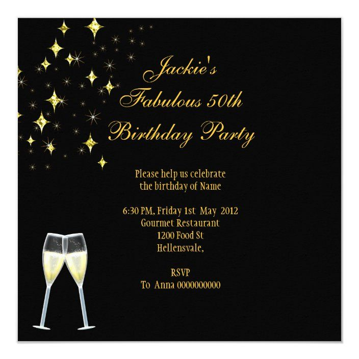 50 Fantastic Red Dress Black Gold Birthday Party Invitation Zazzle Com In 2020 50th Birthday Party Gold Birthday Party Elegant Birthday Party
