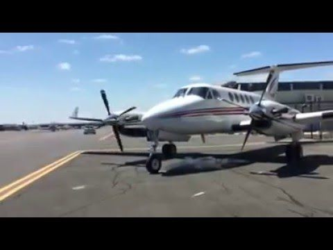 The sound of twin turbine engine of the King Air!