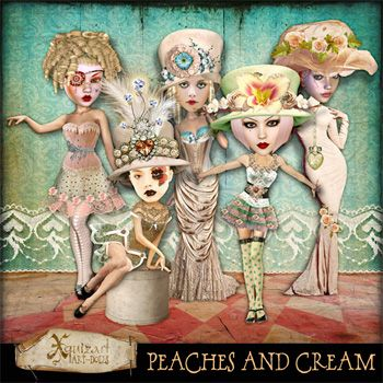 Peaches and Cream Art-dolls