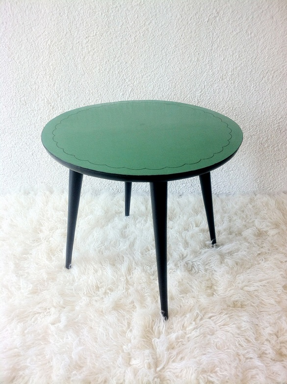 wooden and formica table