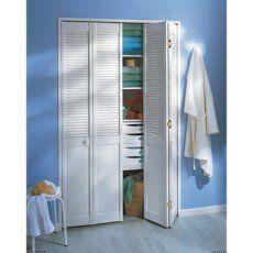 Elegant Porte De Placard Pliante, Blanc, 205x70cm Bonnes Idees