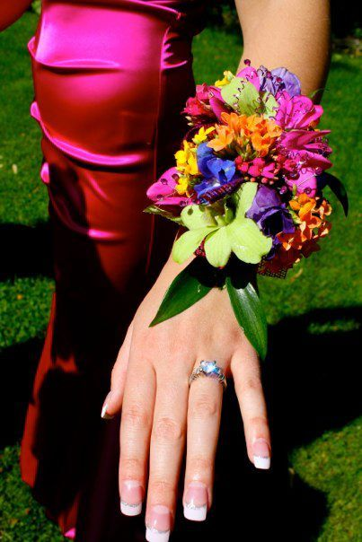 Prom wrist corsage created by Lexington Floral in Shoreview, MN .    #corsage #flowers