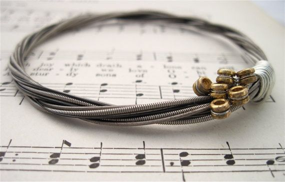 This sophisticated guitar string bracelet ($26). | 32 Impossibly Cute Pieces Of Jewelry For Music Lovers