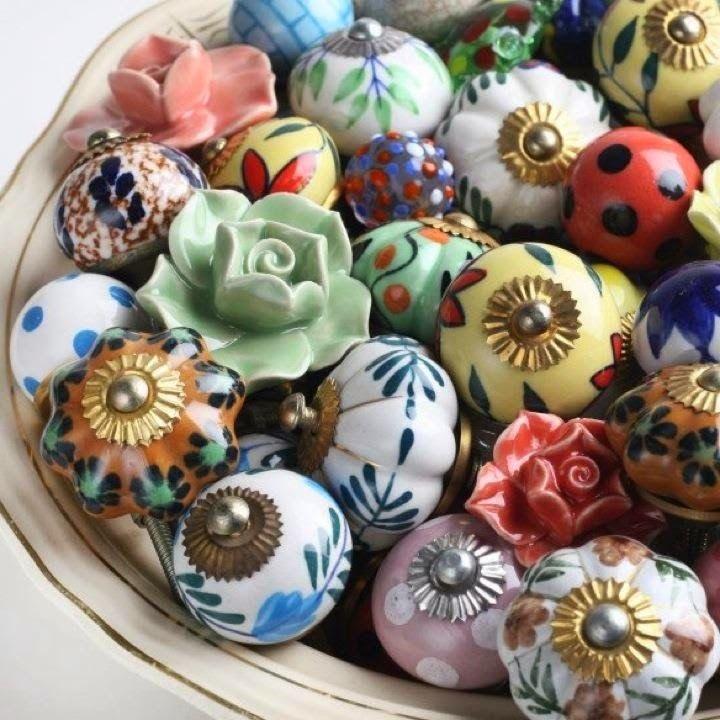 Puxadores em cerâmica e porcelana, uma festa de cores!