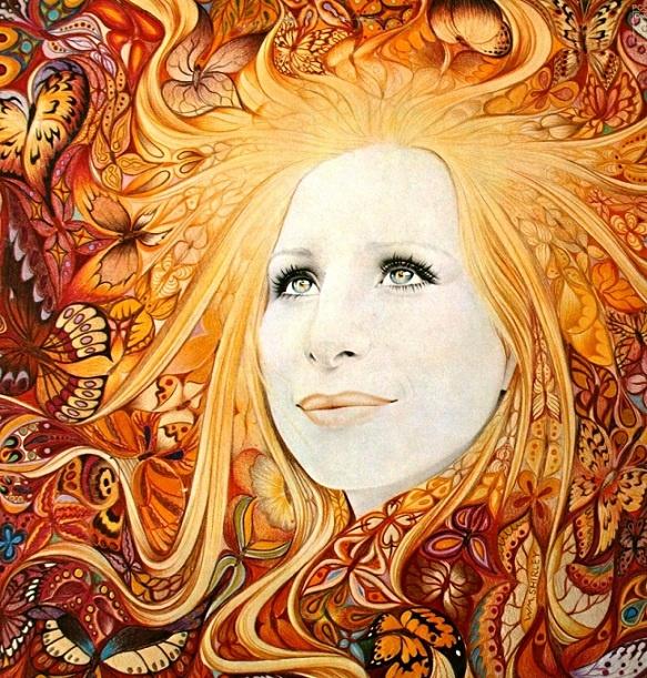 Book Cover Watercolor Hair : Best celebrities barbra streisand albums movies