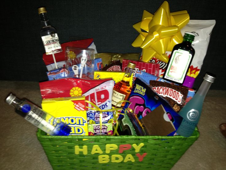 Boyfriend birthday gift basket | gift ideas | Pinterest