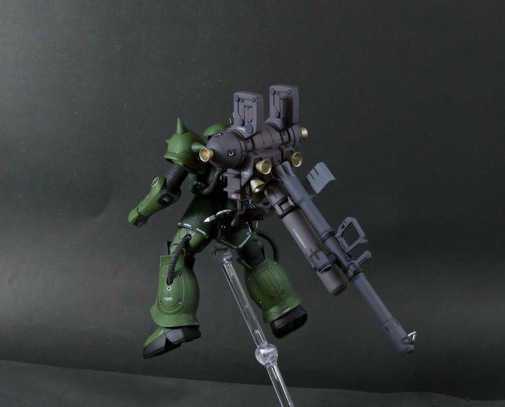 Zaku II + Big Gun (Thunderbolt Ver.) by Distraido