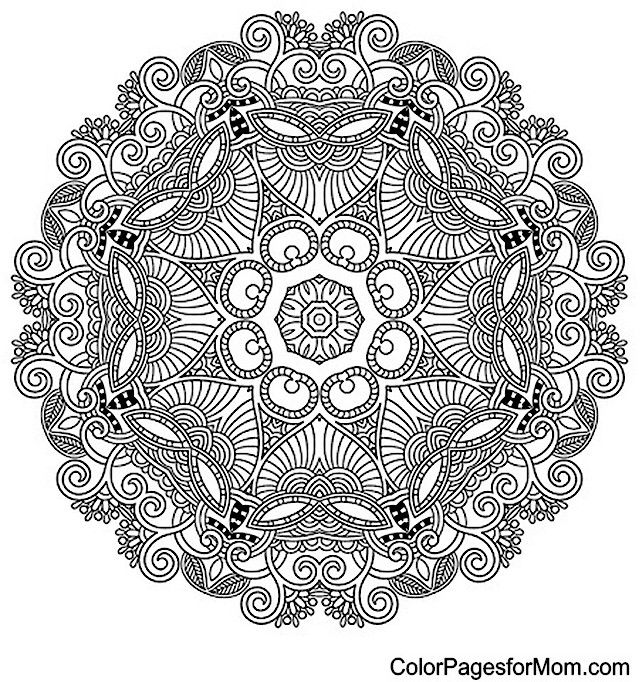 "Mandala Coloring Page 35 | free sample | Join fb grown-up coloring group: ""I Like to Color! How 'Bout You?"" https://m.facebook.com/groups/1639475759652439/?ref=ts&fref=ts"