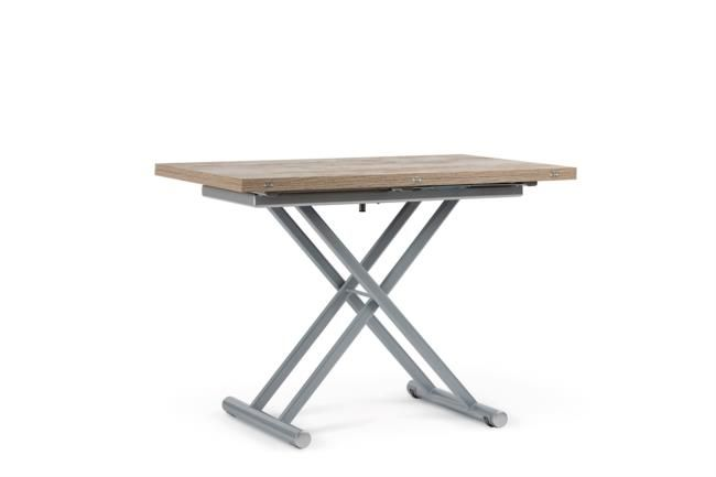Tavolo pieghevole ed allungabile in melaminico e metallo