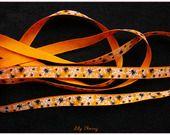 1 mètre de Ruban motif araignée toile orange halloween ribbon spider halloween : Rubans, biais pour bijoux par lilycherry sur ALittleMercerie
