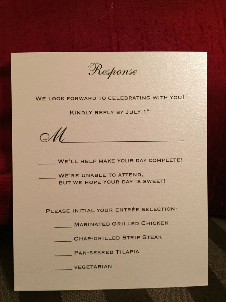 wedding invitation wording vegetarian option%0A Creative wording for response card for wedding invitation