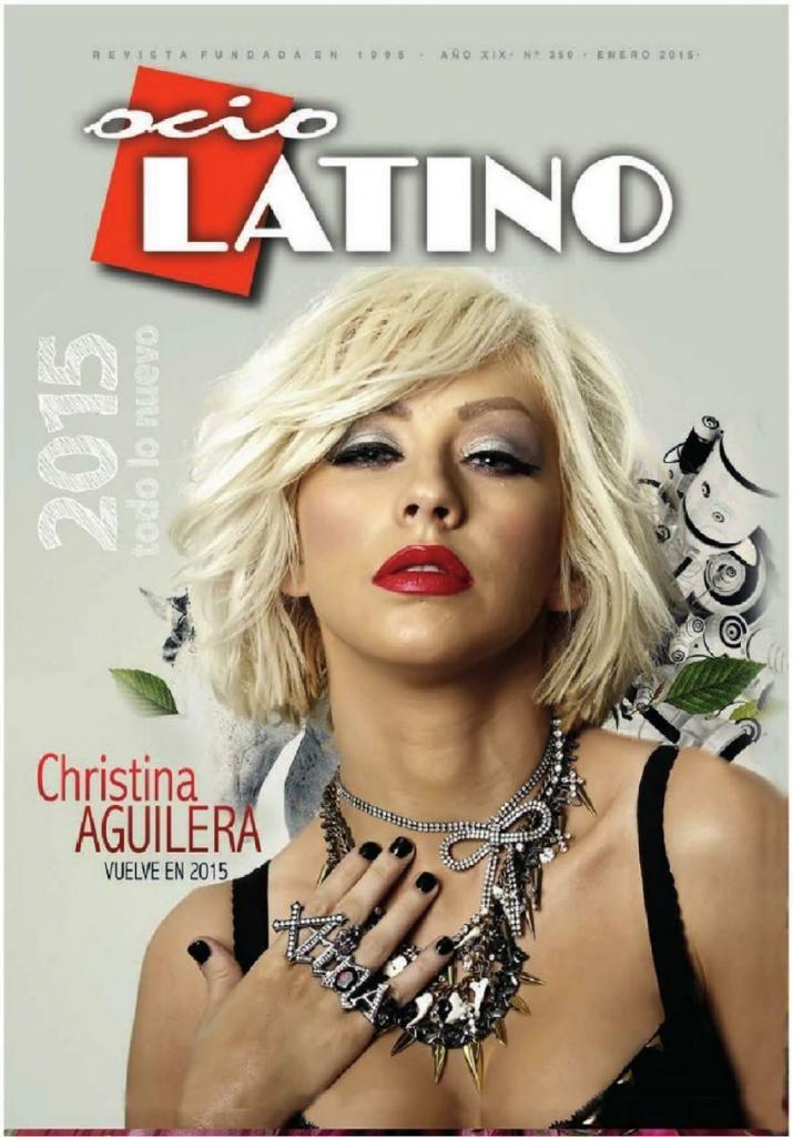 Christina Aguilera - Leisure Latino Magazine, January 2015 : Global Celebrtities (F) - FunFunky.com