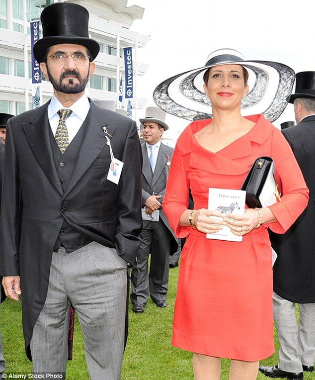 Sheikh Mohammed Al Maktoum and his wife Princess Haya...