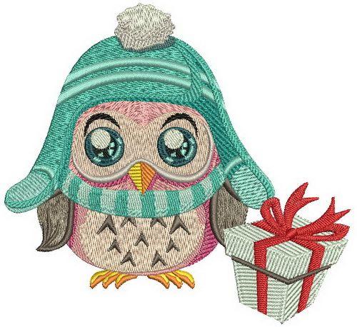 Warm hat machine embroidery design. Machine embroidery design. www.embroideres.com