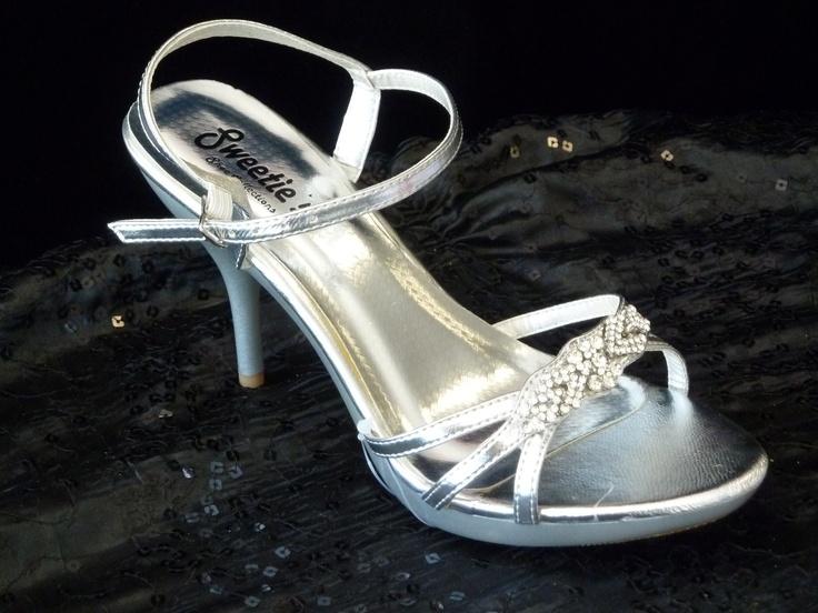Silver Rhinestone Platform Sandal 2 3/4 inch heels! | Wedding ...