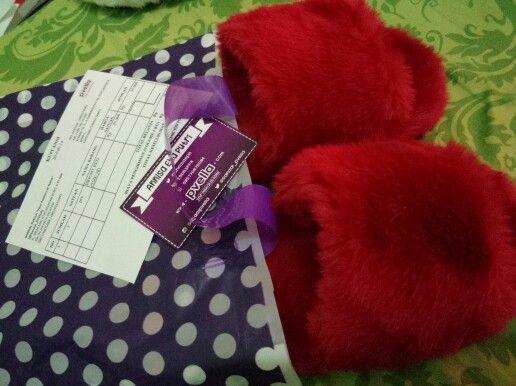 Siap packing untuk customer. Pvella Bright Red.